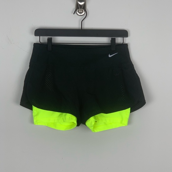 Nike Perforated Rival 2 In 1 Shorts Women Green